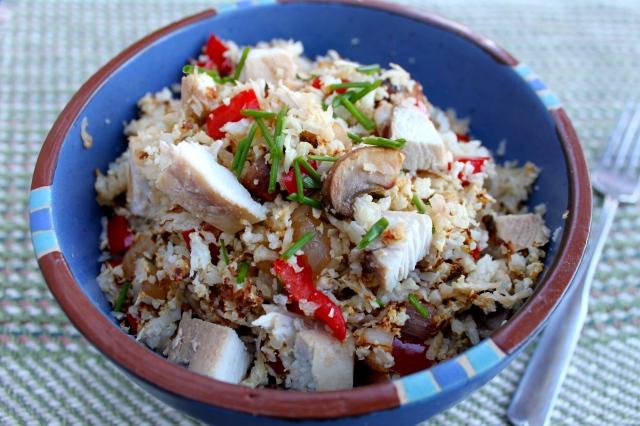 Finished product - Asian Cauliflower Rice Pilaf