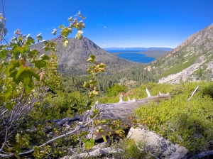 Looking back at Tahoe, Fallen Leaf, and Lily Lake.