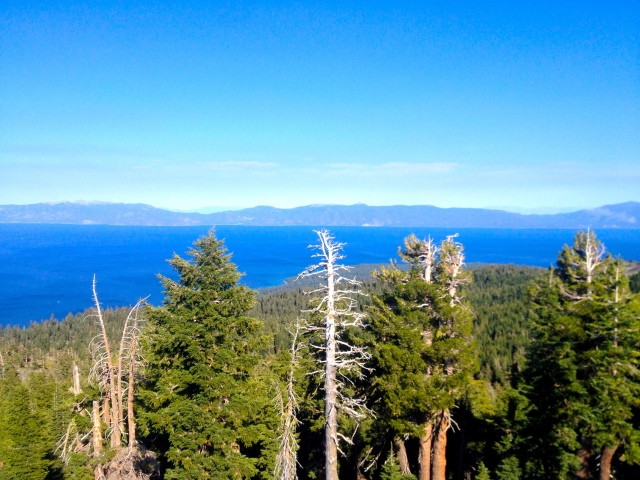 View of Lake Tahoe from the top of Ellis Peak.