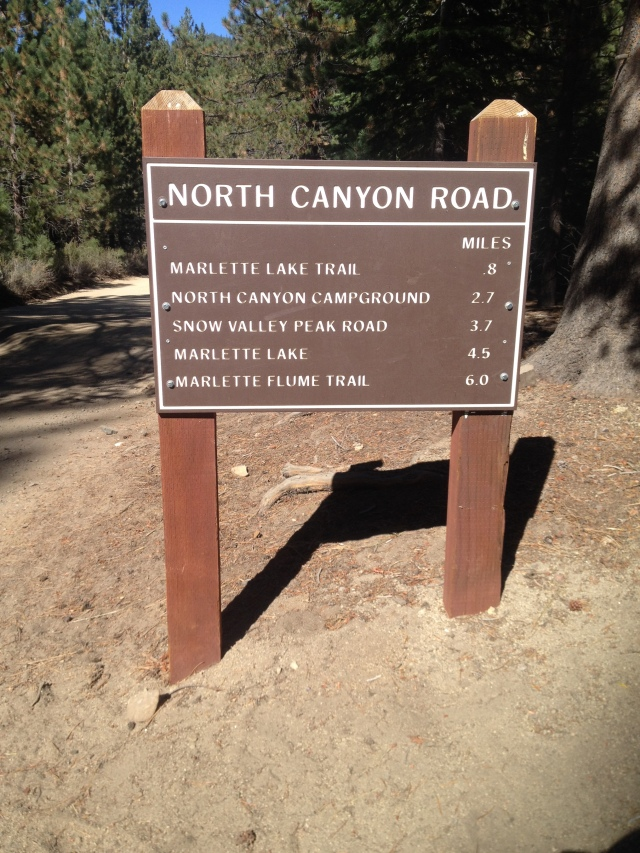 Trailhead for North Canyon Road.