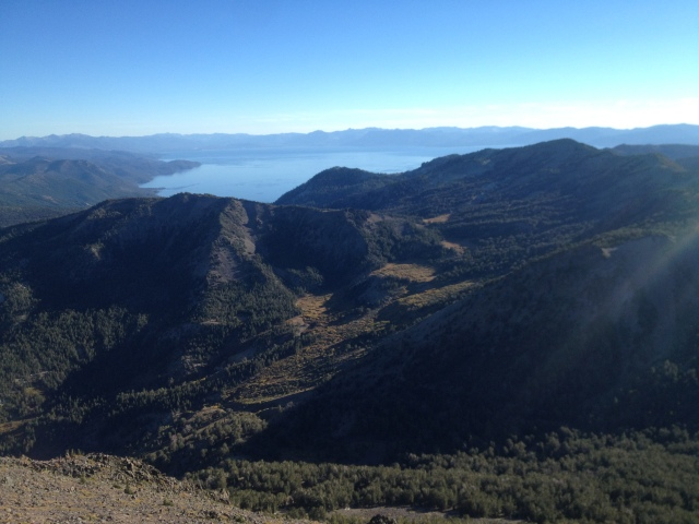 View of Lake Tahoe from Mt. Rose summit.
