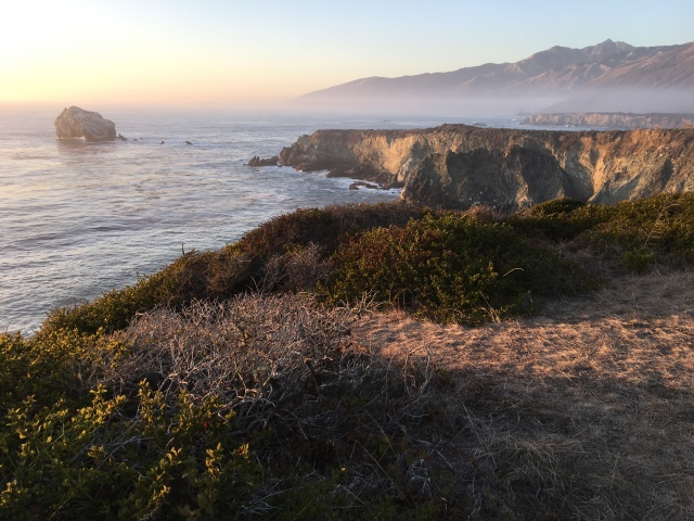 Sun setting over Big Sur.
