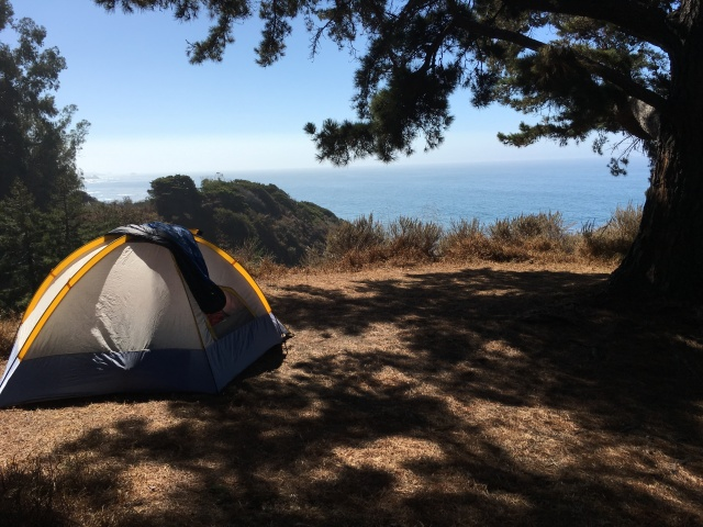 Our spot at Kirk Creek Campground, Big Sur.