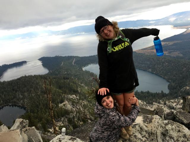 Jenn and I having fun on the top of Maggie's Peak.