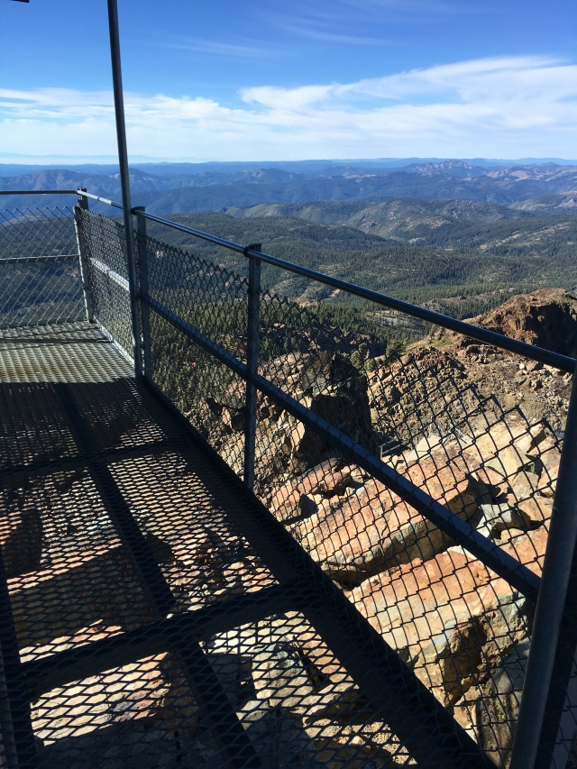 View from the lookout tower on top of the Sierra Buttes.