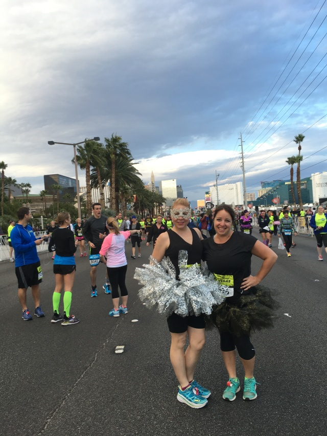 Getting ready to start the race. Might be the only time you ever see me in a tutu....