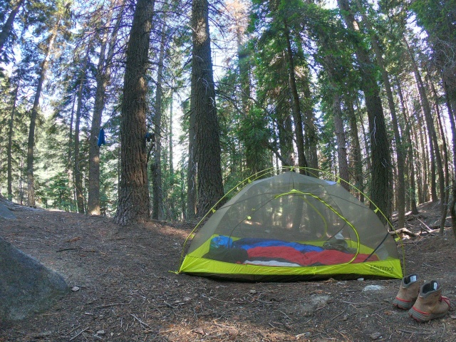 Tent at 9-Mile Creek