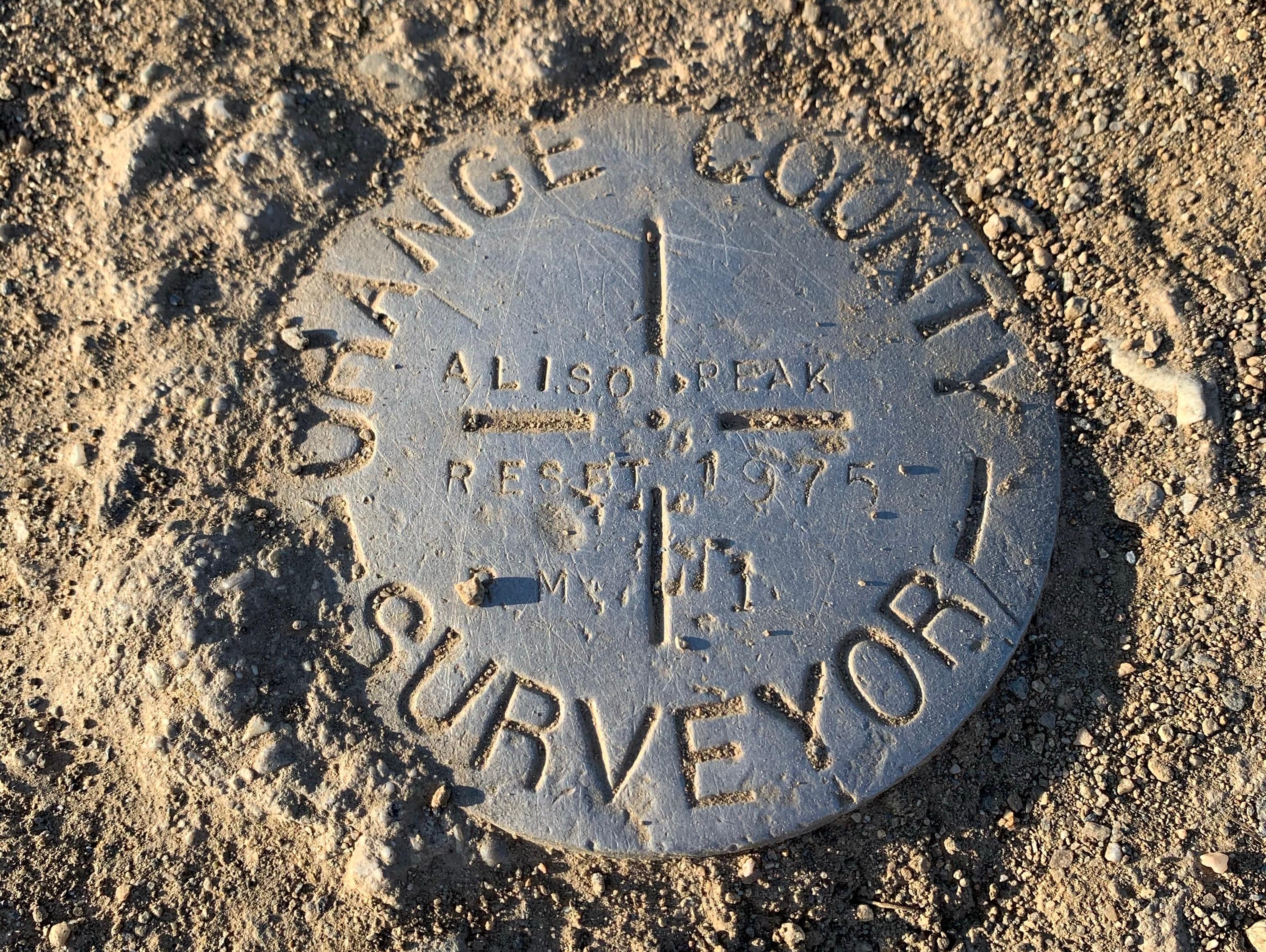 Aliso Summit Marker